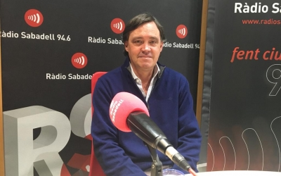 Esteban Gesa durant l'entrevista a Ràdio Sabadell | Mireia Sans