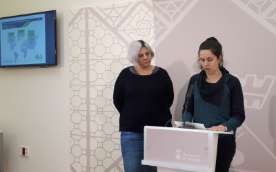 Ferrándiz i Pajares han fet balanç avui de la situació dels refugiats/ Karen Madrid