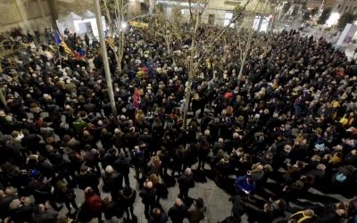 Dues mil persones es manifesten a favor de l'alliberament dels polítics empresonats | Roger Benet