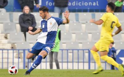 Pajarero, en una acció del partit contra el Villarreal 'B' | Críspulo Díaz