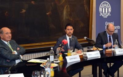 Damià Calvet (al centre) amb Blai Costa (a la dreta) i Joan Roca (a l'esquerra) | Cedida