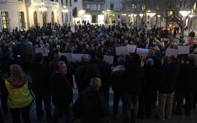 La lectura del manifest a la plaça Sant Roc | Roger Benet