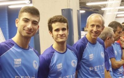 La tripleta del CNS, en un partit d'aquesta temporada | @cnstennistaula