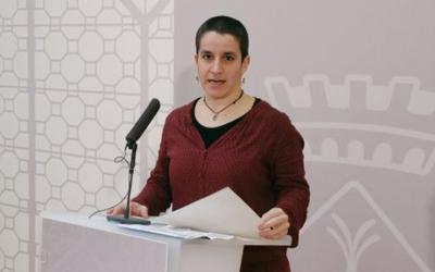 Glòria Rubio, durant la presentació del Pla de Formació per a Entitats i Persones Voluntàries/ Ajuntament de Sabadell