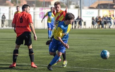 Marc Martí (en una imatge d'arxiu) va signar un excel·lent partit a Riudarenes tot i la derrota final | Roger Benet
