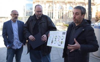Guerrero i Soler presenten l'aplicació a la plaça del Gas | Roger Benet