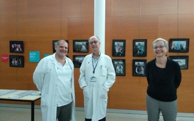 Miquel Angel Seguí, coordinador de la unitat de patologia mamària, amb Ul·liHubëntahl