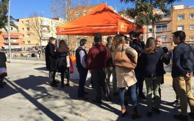 Ciutadans explica les propostes pels joves en una carpa a Ca n'Oriac | Radio Sabadell