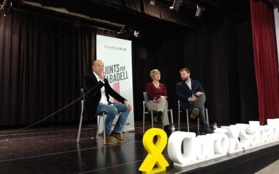 Lourdes Ciuró i Gerard Figueras en l'acte celebrat a Can Balsach | Helena Molist