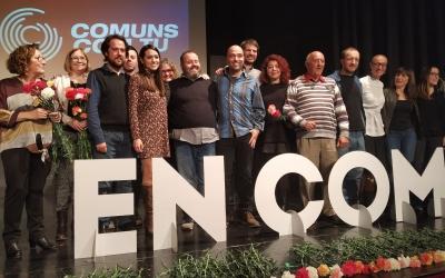 Imatge dels candidats al final de l'acte amb Joan Berlanga al centre | Sergi Garcés
