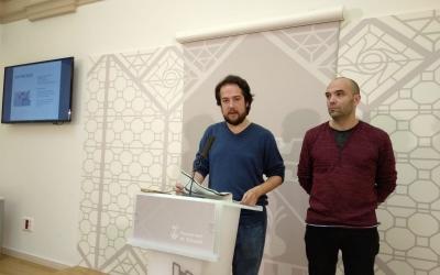 Edu Navarro i Joan Berlanga a la roda de premsa | Helena Molist