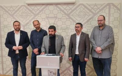 D'esquerra a dreta, Fernàndez, Serracant, El Homrani, Fernández i Soler | Pere Gallifa