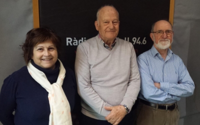 Els tres cantaires als estudis de Ràdio Sabadell | Mireia Sans