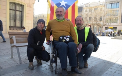 Jordi Puig denuncia la situació dels presos independentistes sobre la seva cadira de rodes   Roger Benet