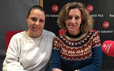 Neli Carmona i Alícia Mendoza a Ràdio Sabadell