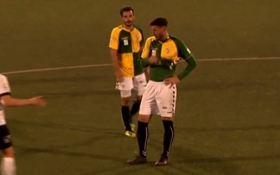 Óscar Rubio i Pajarero, després del partit | Footers