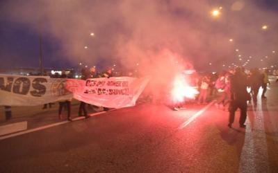 La protesta ha tallat la C-58 | Roger Benet