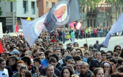 Imatge de la manifestació antifeixista de fa uns anys a Sabadell | Arxiu