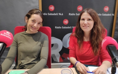 Lídia Gil i Eva Abellan a Ràdio Sabadell | Pau Duran