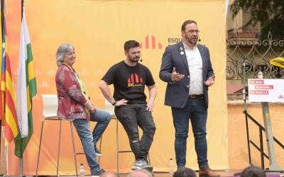 Casals, Fernàndez i Rufián en un acte d'ERC | Roger Benet