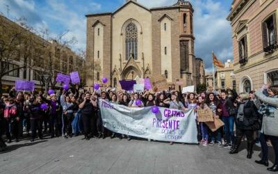 La protesta del 8M l'any passat a plaça Sant Roc | Roger Benet
