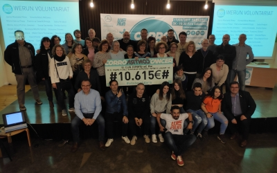 Voluntaris i patrocinadors amb el donatiu | Pau Duran