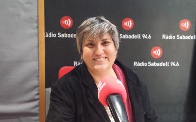 Montse Barderi, als estudis de Ràdio Sabadell/ Pau Duran