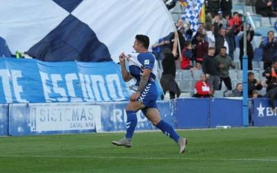 Ballesteros celebra el gol del darrer diumenge | Sendy Dihör