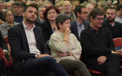 Gibert durant el míting del PSC a Fira Sabadell | Roger Benet
