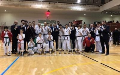 Els karateques del Dojo Sabadell, en una competició del 2018 | @dojo_sabadell