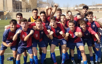L'alegria era màxima en els integrants del Mercantil després del triomf davant l'Espanyol 'B'. | @CEMercantil