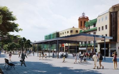 Infografia del nou umbracle del Passeig  | Cedida