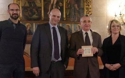 Benaul, amb la resta de guardonats amb els Premis Flocs de Llana 2018 del Gremi de Fabricants