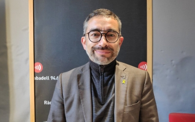 Gabriel Fernández, a Ràdio Sabadell/ Pau Duran