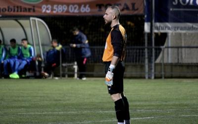 Lluri Granado al partit de la primera volta jugat al Jaume Tubau de Sant Cugat | Adrián Arroyo