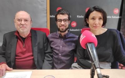 Manuel Costa, el filòsof Jordi Jiménez i la directora Maria de Vallibana | Pau Duran