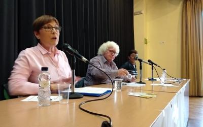 Ana Maria Huertas i Ricardo Rosso en la presentació del partit | Helena Molist