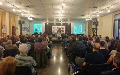 Guillem Fuster, en un moment de l'acte polític a Sabadell | Pere Gallifa
