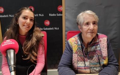Laura Adame i Dolors Pallàs als estudis de Ràdio Sabadell | Pau Duran