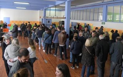 Col·legi electoral a Sabadell aquest matí | Roger Benet