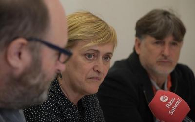 Miquel Soler, Marisol Martínez i Jordi Grané a la roda de premsa d'avui | Roger Benet