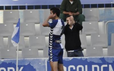Capó celebra el primer gol aconseguit contra el Castellón | Críspulo Díaz