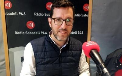 Paco Aranda als estudis de Ràdio Sabadell