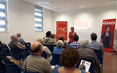 Farrés, en l'acte d'aquest matí a Diego de Almagro/ Ràdio Sabadell