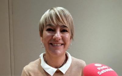 Lourdes Ciuró, candidata de Junts per Sabadell, als estudis de l'emissora