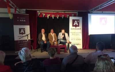 García, Lopera i Vidal a l'escenari de l'Espai Àgora | Ràdio Sabadell