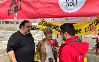 L'alcaldable, Lourdes Ciuró, ha explicat les propostes per a Gràcia a la plaça del Treball | Junts per Sabadell