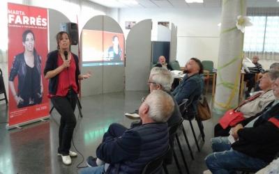 L'alcaldable socialista, durant la xerrada al complex de Sant Oleguer   Marc Serrano i Òssul