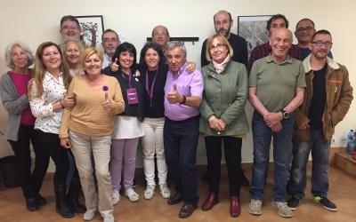 L'equip de Marta Morell, en finalitzar el recompte de vots | Aleix Graell
