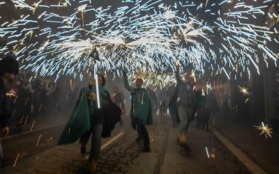 Els Diables de la Creu Alta durant el correfoc de la Festa Major de Sabadell 2018 | Roger Benet